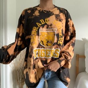 Colorado College Tigers Bleached Tie Dye Shirt